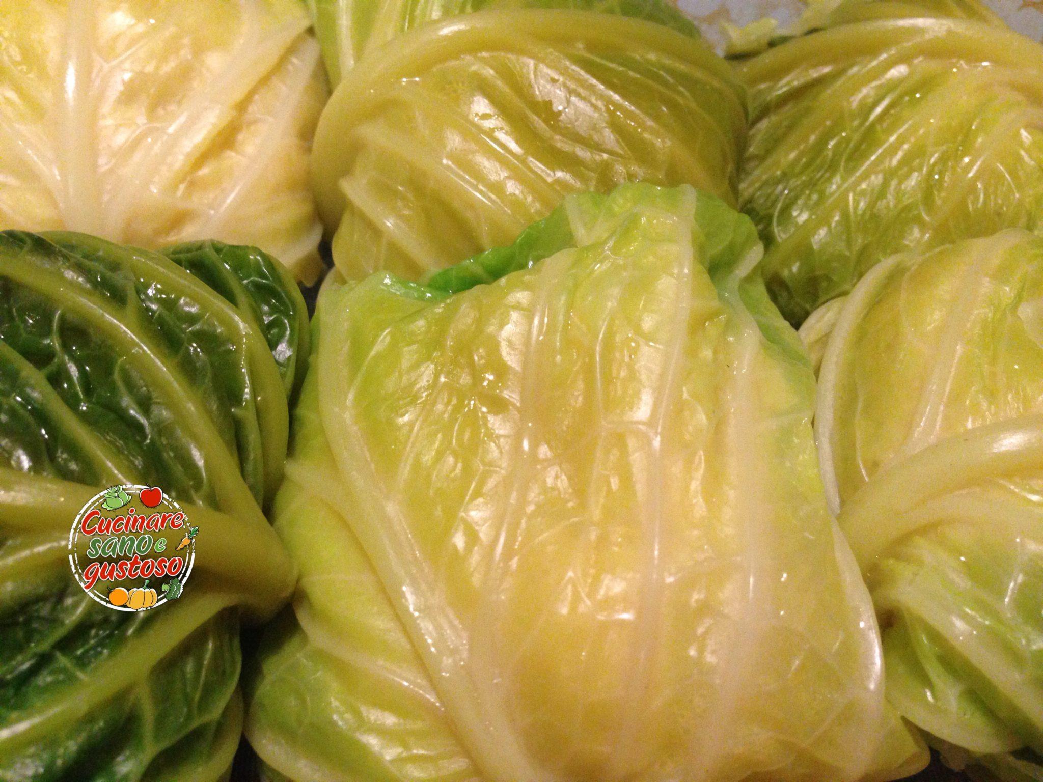 Involtini di verza ripieni di purea di patate cucinare - Cucinare sano e gustoso ...