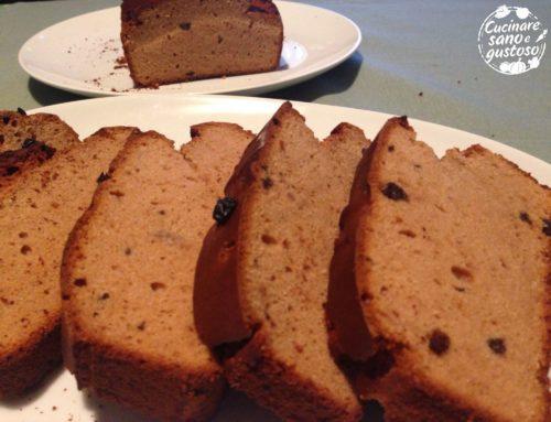 Plumcake di Castagne e uvetta , 100% Vegetale.