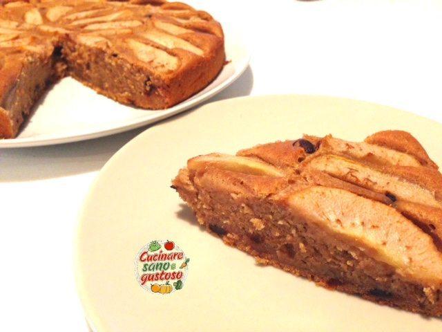 Torta di pere e cioccolato fondente senza burro latte e - Cucinare sano e gustoso ...