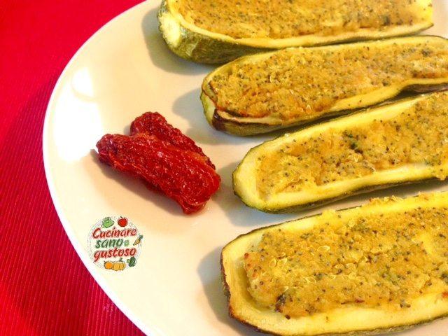 Zucchine ripiene gratinate al forno cucinare sano e gustoso - Cucinare sano e gustoso ...
