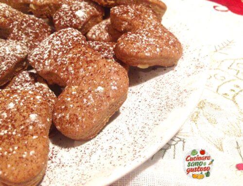 Scarponi di Babbo Natale con pasta frolla alle Noci ( no burro, no latte, no uova)