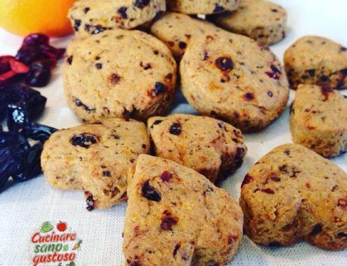 Biscotti all' Arancia e Frutti rossi. Senza Zuccheri aggiunti e 100% vegetali!