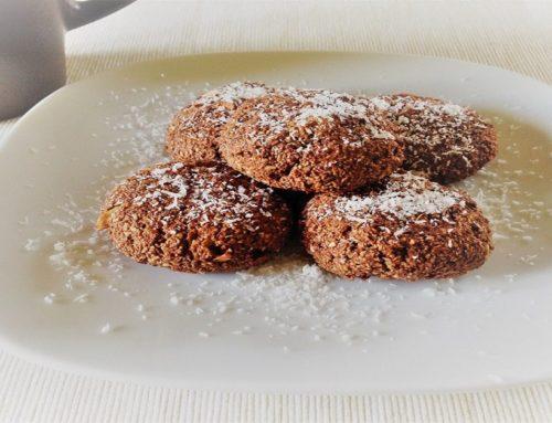 Biscotti  al Cocco,  Avena  e Cacao 100% vegetali e a basso indice glicemico