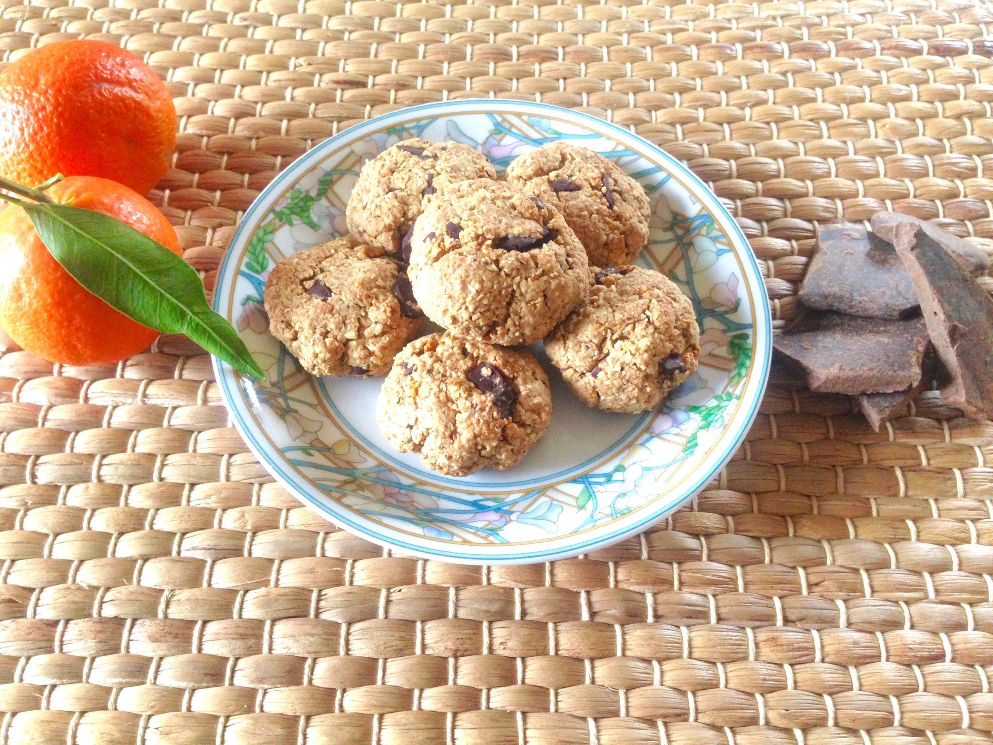 Dolcetti a basso indice glicemico senza burro, latte e uova, con la granella di chufa.