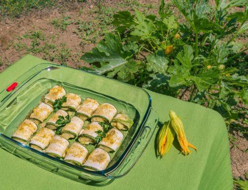 Involtini di zucchina ripieni
