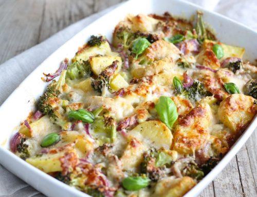 Gratin di patate e broccoli al pane profumato
