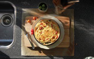 Quiche con pomodori e zucchine - Torta salata