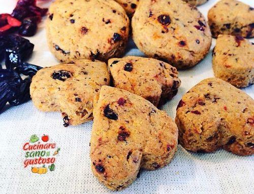 Biscotti al limone e frutti rossi (senza zuccheri aggiunti)