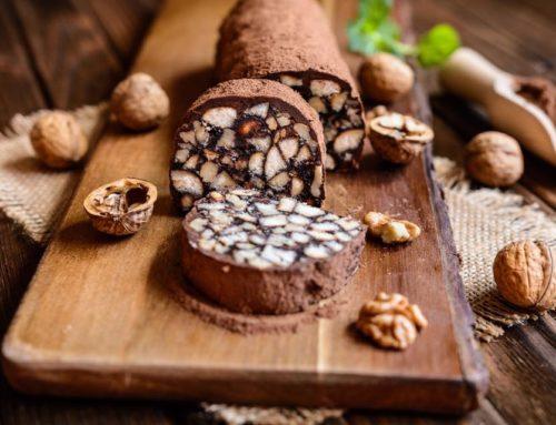 Salame di cioccolato, un dolce goloso e veloce per le festività