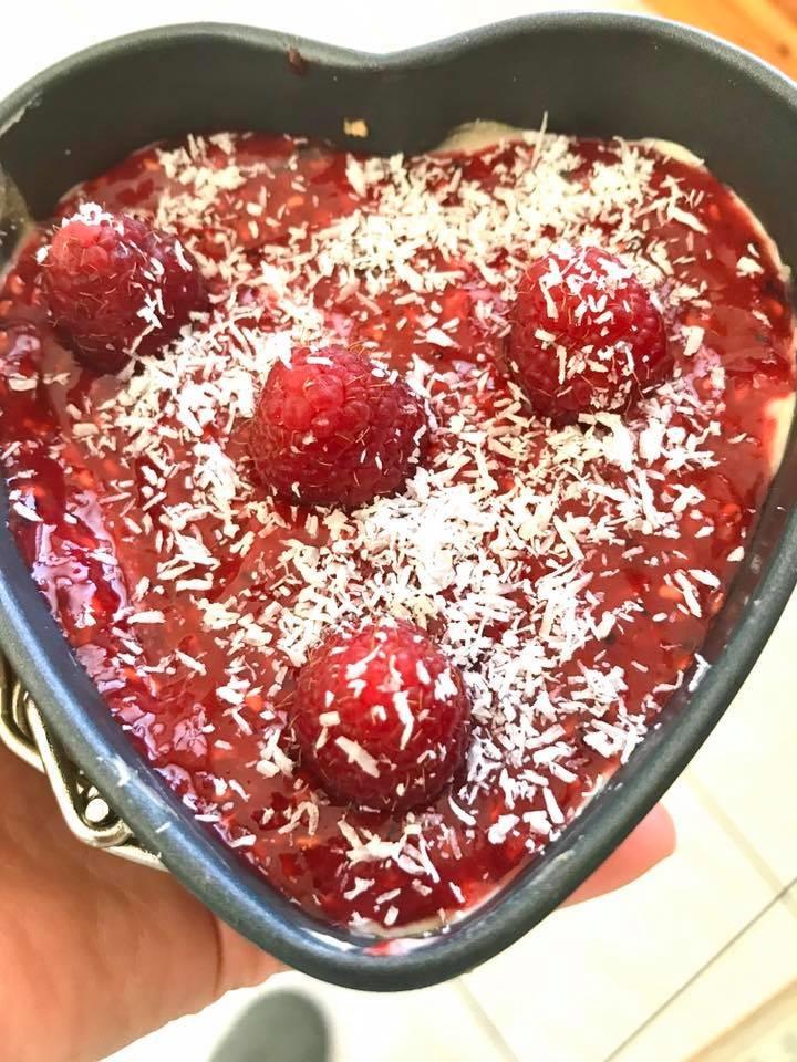 Cheesecake ai lamponi senza zuccheri aggiunti