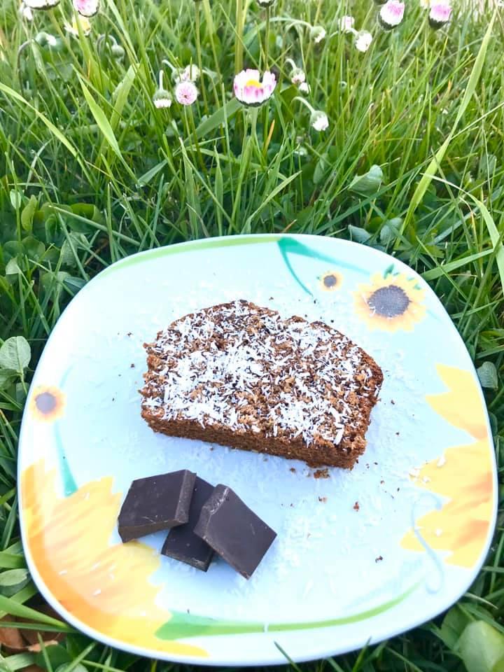 Plumcake cioccolato fondente e cocco integrale