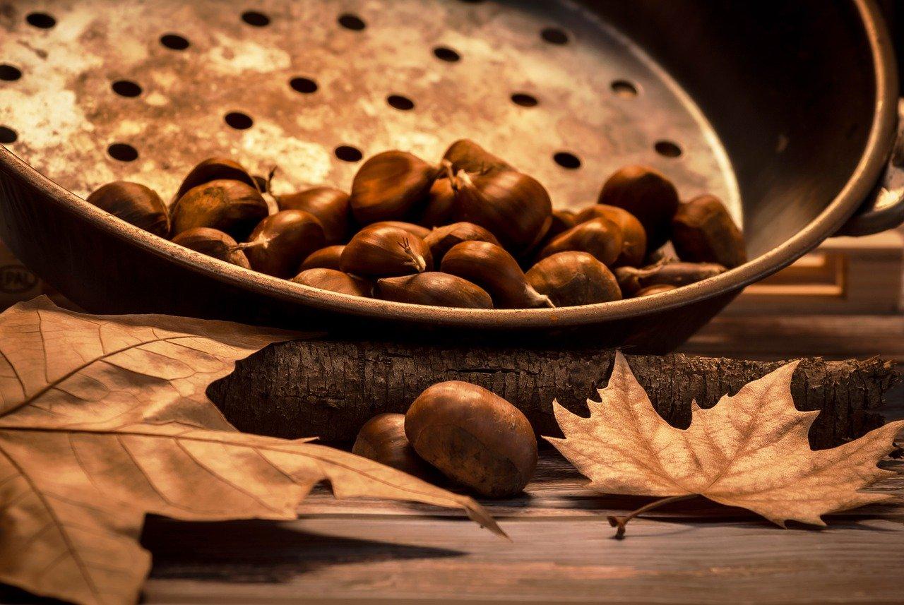 Castagne caldarroste