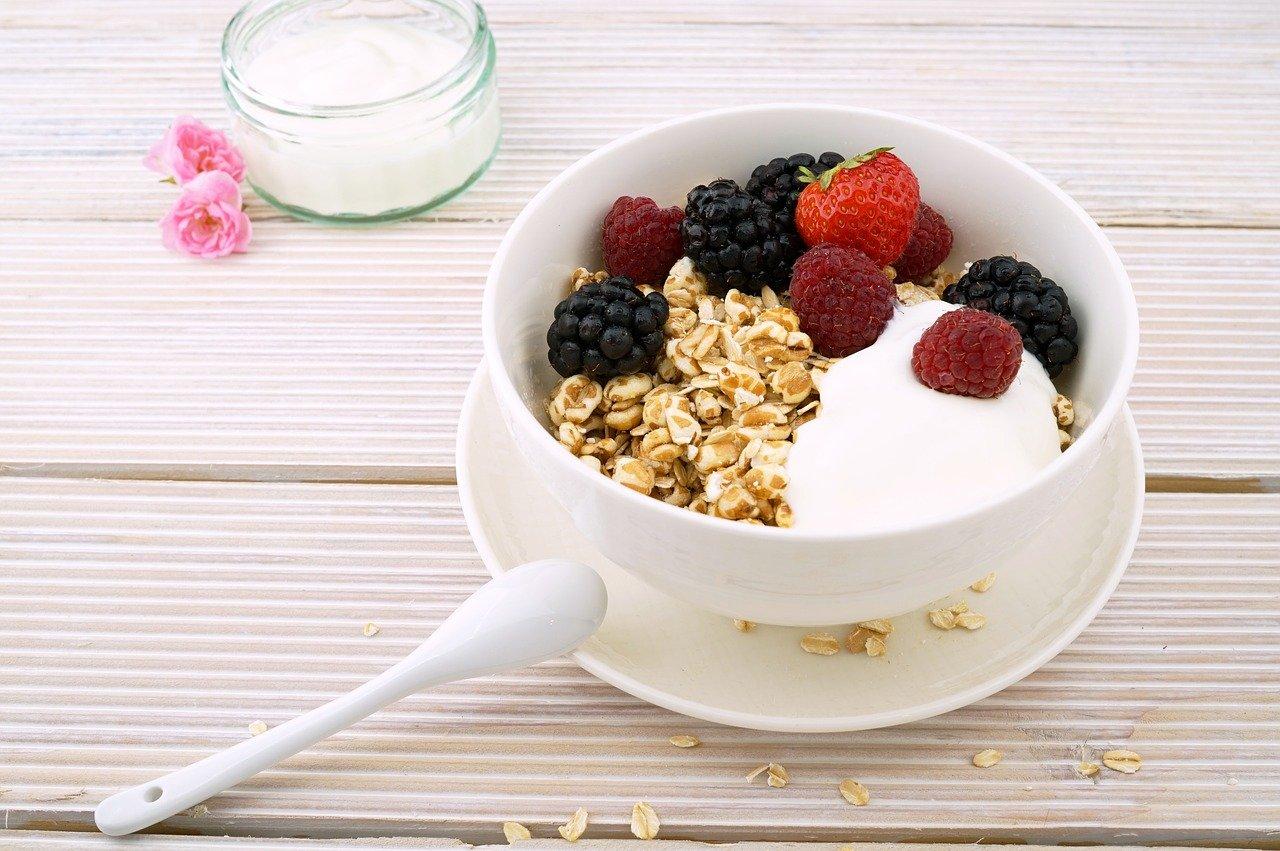 frutti rossi a colazione
